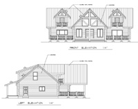 front and left elevations