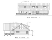 right and rear elevations