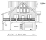 This is an exterior front elevation of a log home being built  in our log yard