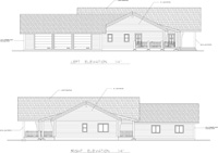 left and right elevations