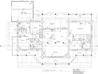 main floor plan with garage