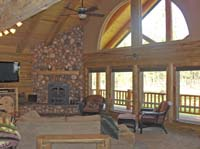 living room gable/fireplace view