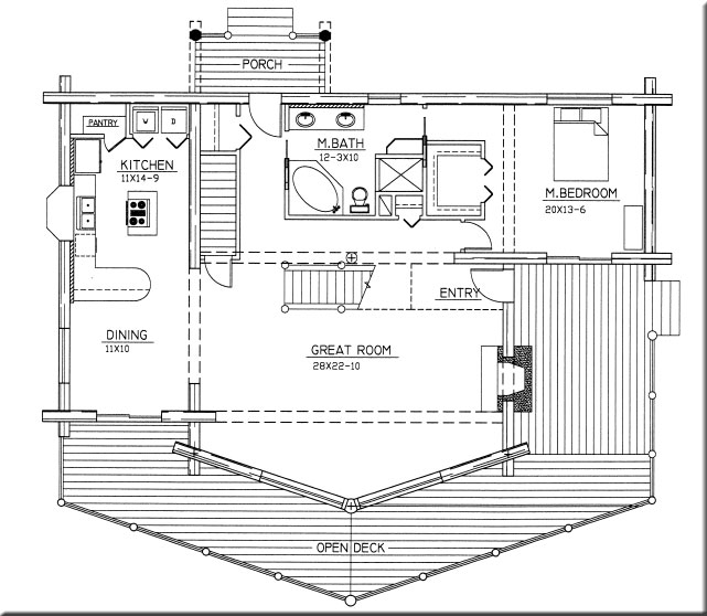 Golfview Design First Floor Plan