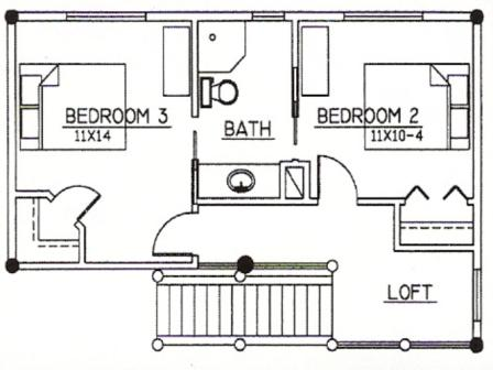 Golfview Design Second Floor Plan