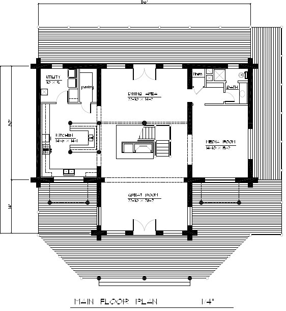 The Riverview main floor plan
