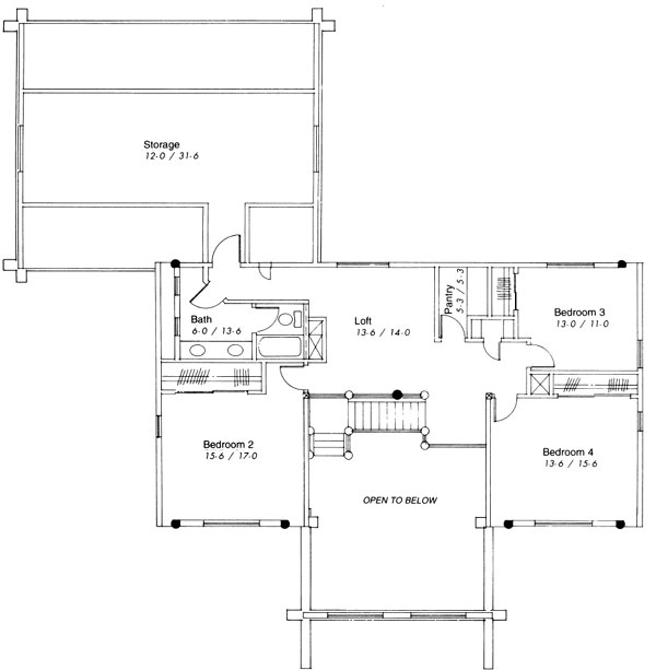 Valley View Second Floor Plan