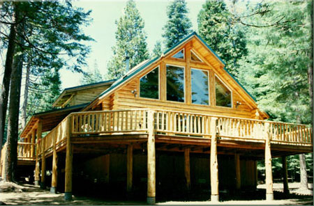 Almanor log home model log homes and cabins by homestead for Cabin kits northern california