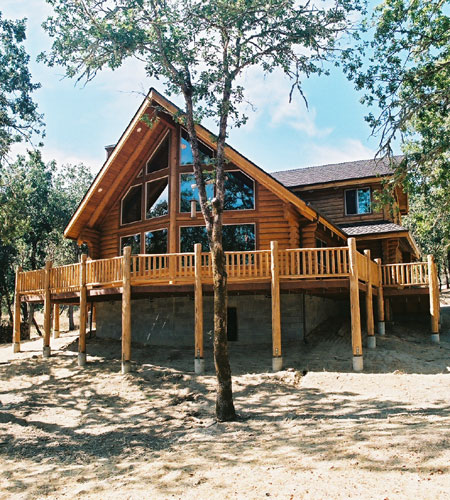 Elkhorn log home model log homes and cabins by homestead for Prow front house plans