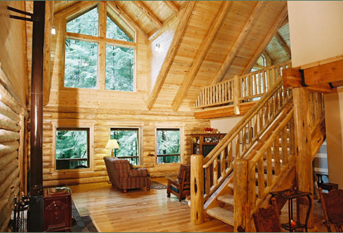 Pacific log home model by homestead log homes for Pacific homes kit homes