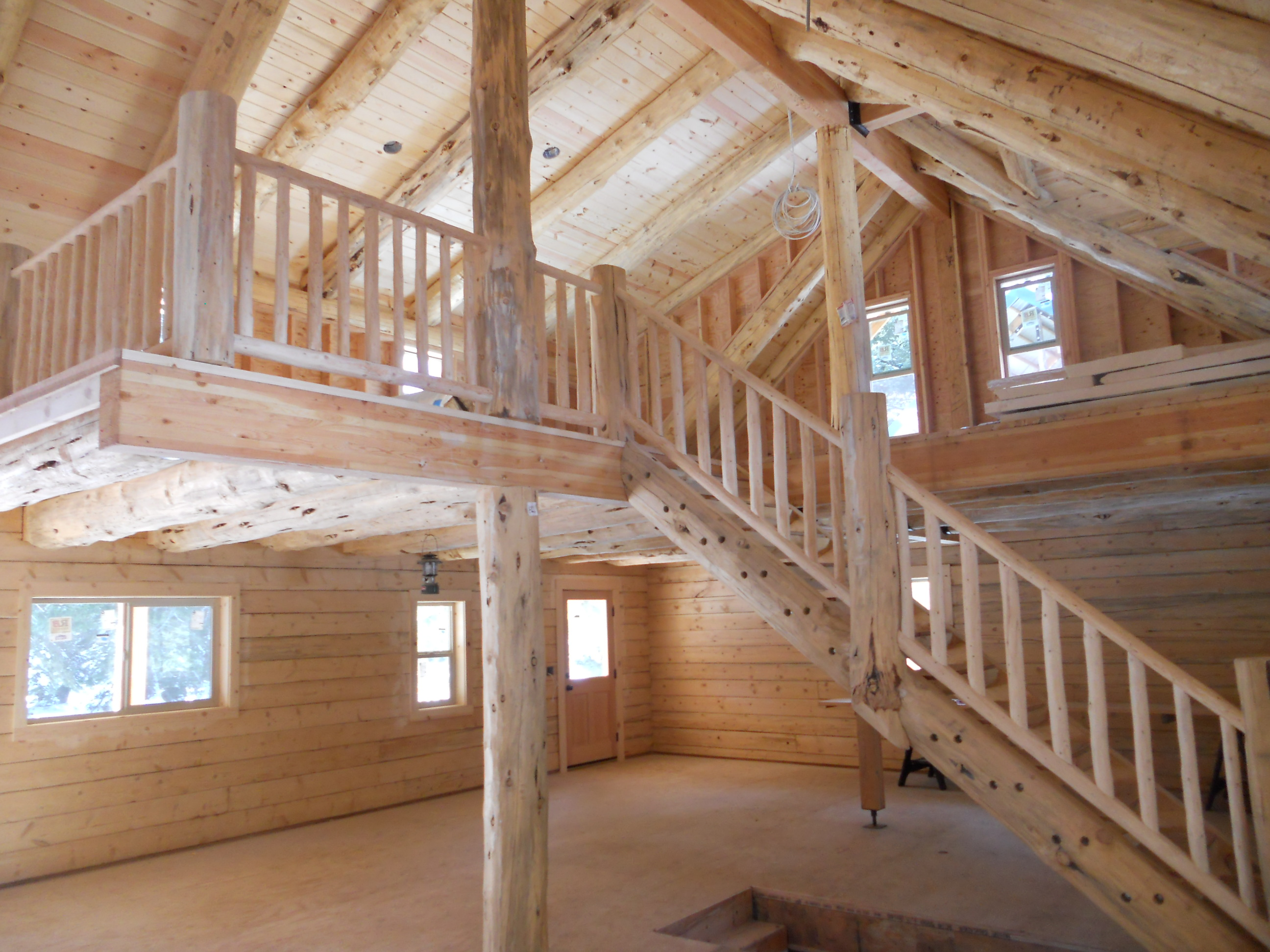 Ordinary log cabin floor plans with basement 2 dscn1330 for Log cabin plans with basement