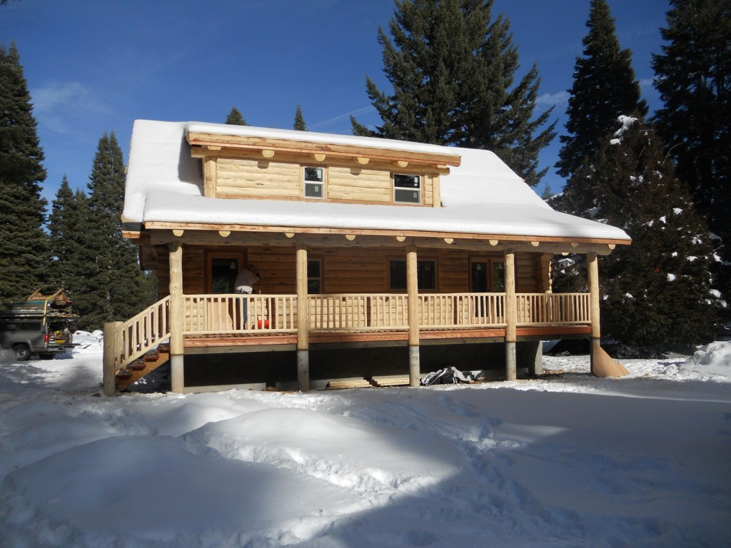 Cascade mountain range log home preassembled log homes for Cascade house