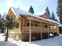 Cascade Mountain Range Log Home