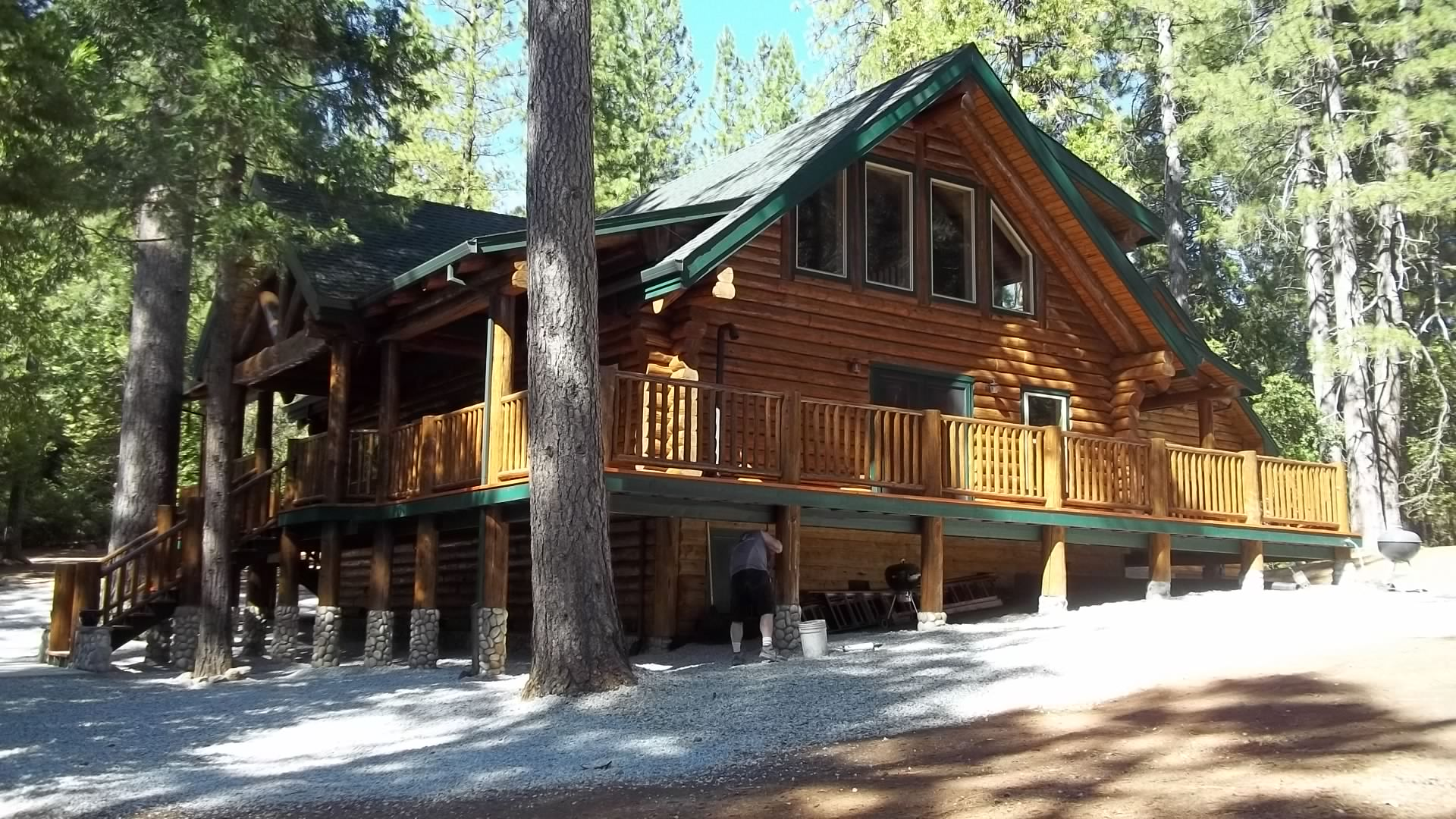 One of our log homes in volcano ca preassembled log for Log cabin builders in california