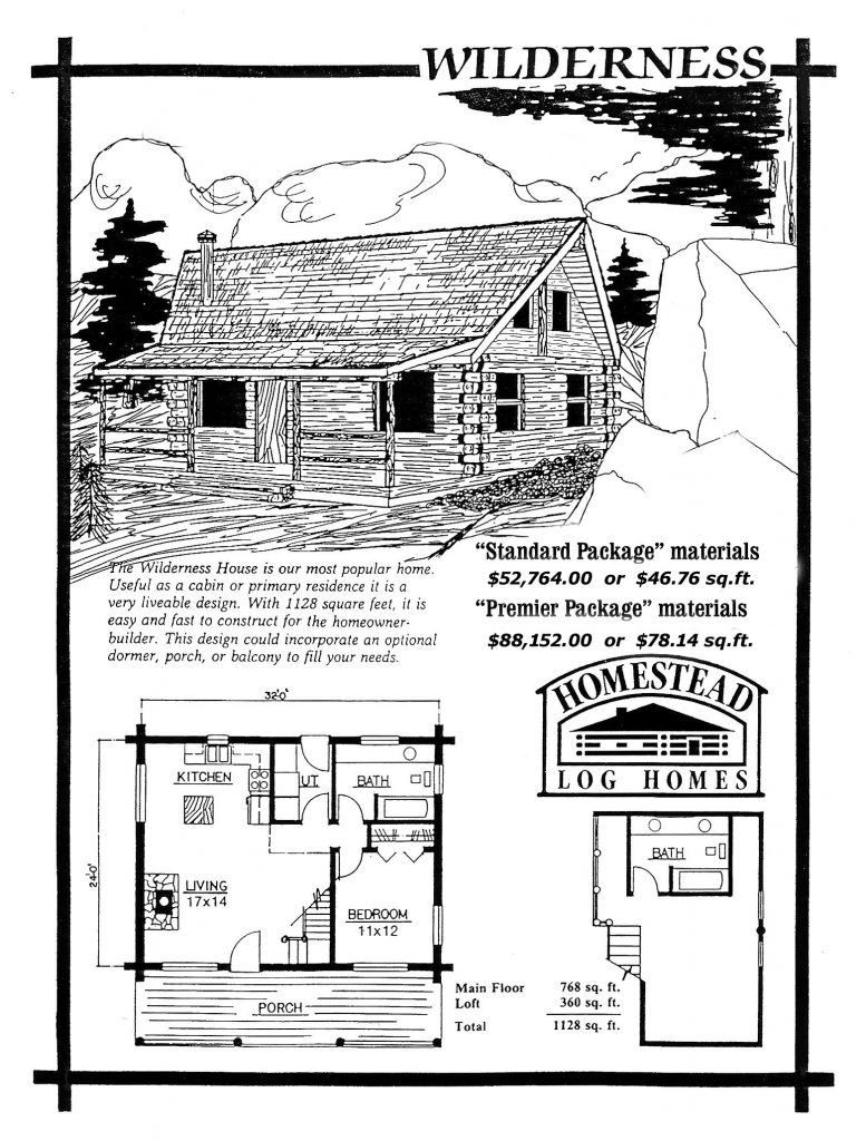 Cheap cabin kits preassembled log homes and cabins by for Wilderness cabin plans